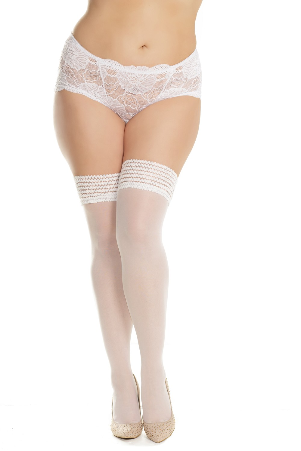 Sheer stay-up stockings floral elastic top 1906 Edmonton