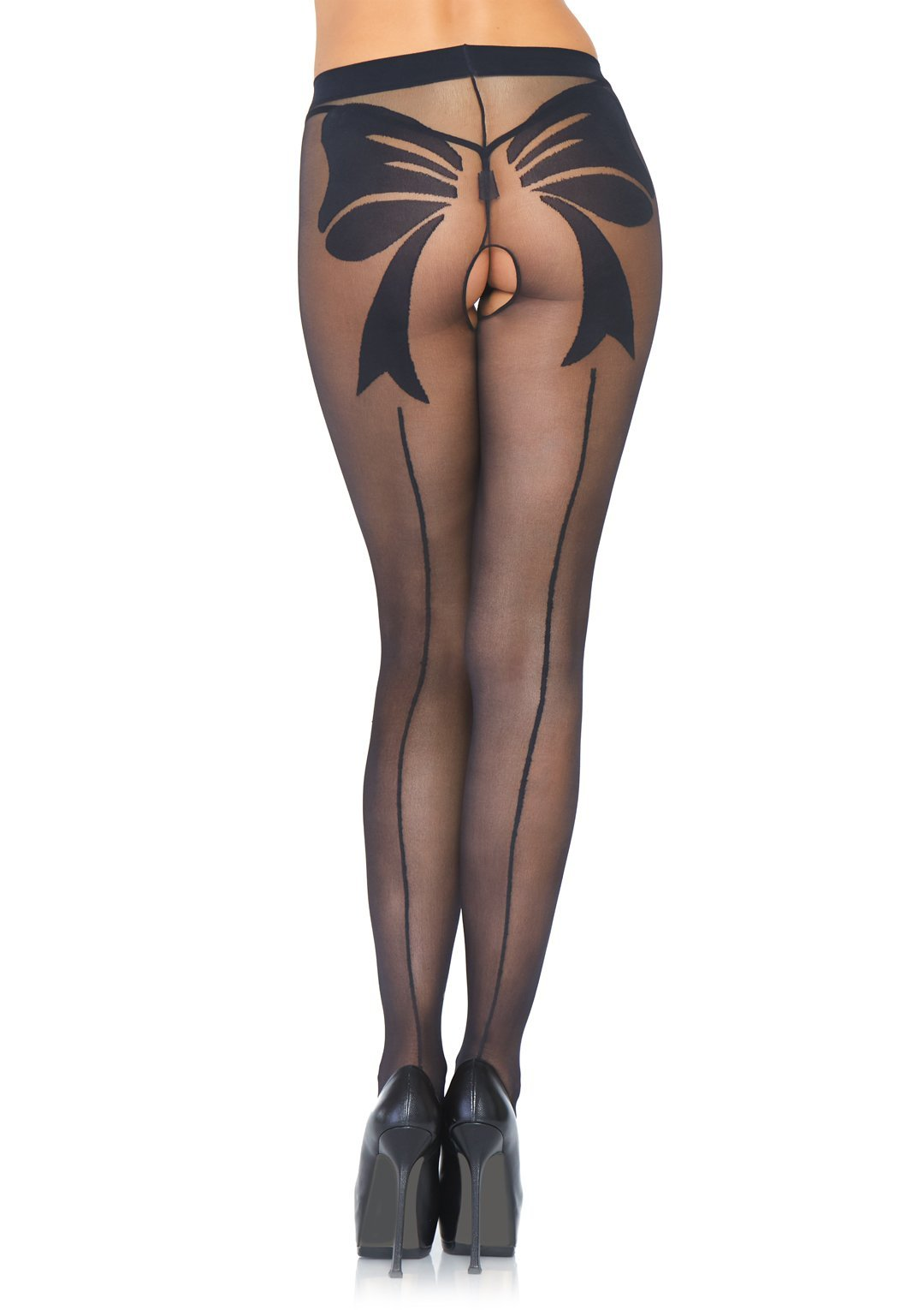Big Bow Backseam Pantyhose Tights Edmonton