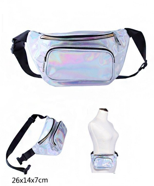 Silver Holographic Fanny Pack 0595 Edmonton