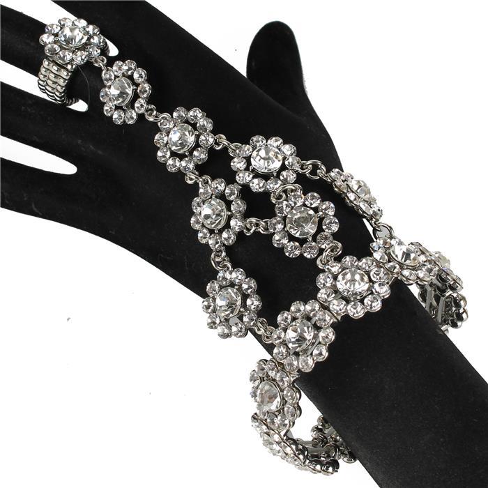 slave bracelet sparkling crystals rhinestone clear silver 158152 Edmonton
