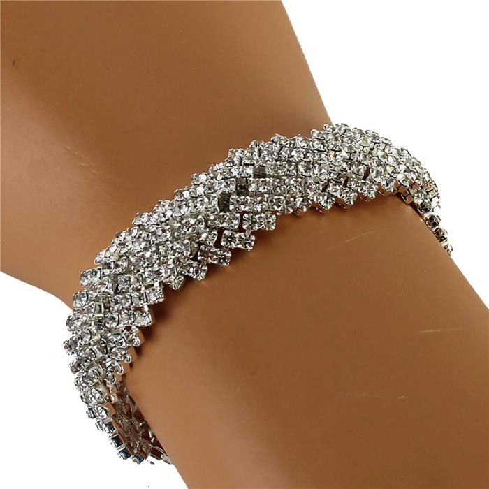 silver twisted rhinestone bracelet 173224 Edmonton