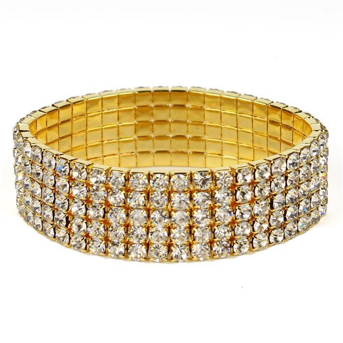 Classicrhinestone bracelet gold 021406 Edmonton