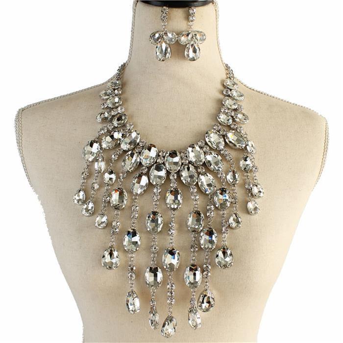 Sparkling silver rhinestone necklace 173326 Edmonton