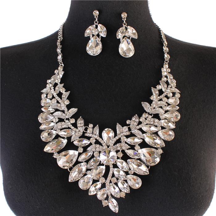 Sparkling rhinestone necklace silver 165998 Edmonton