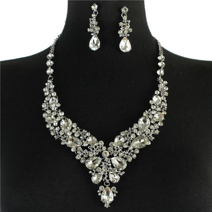 Sparkling rhinestone necklace matching earrings 168190 Edmonton