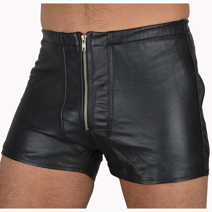 Men's faux leather boxer briefs front pouch open back 7589 Edmonton