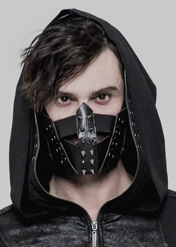 Faux Leather Face mask Spikes 0254 Edmonton
