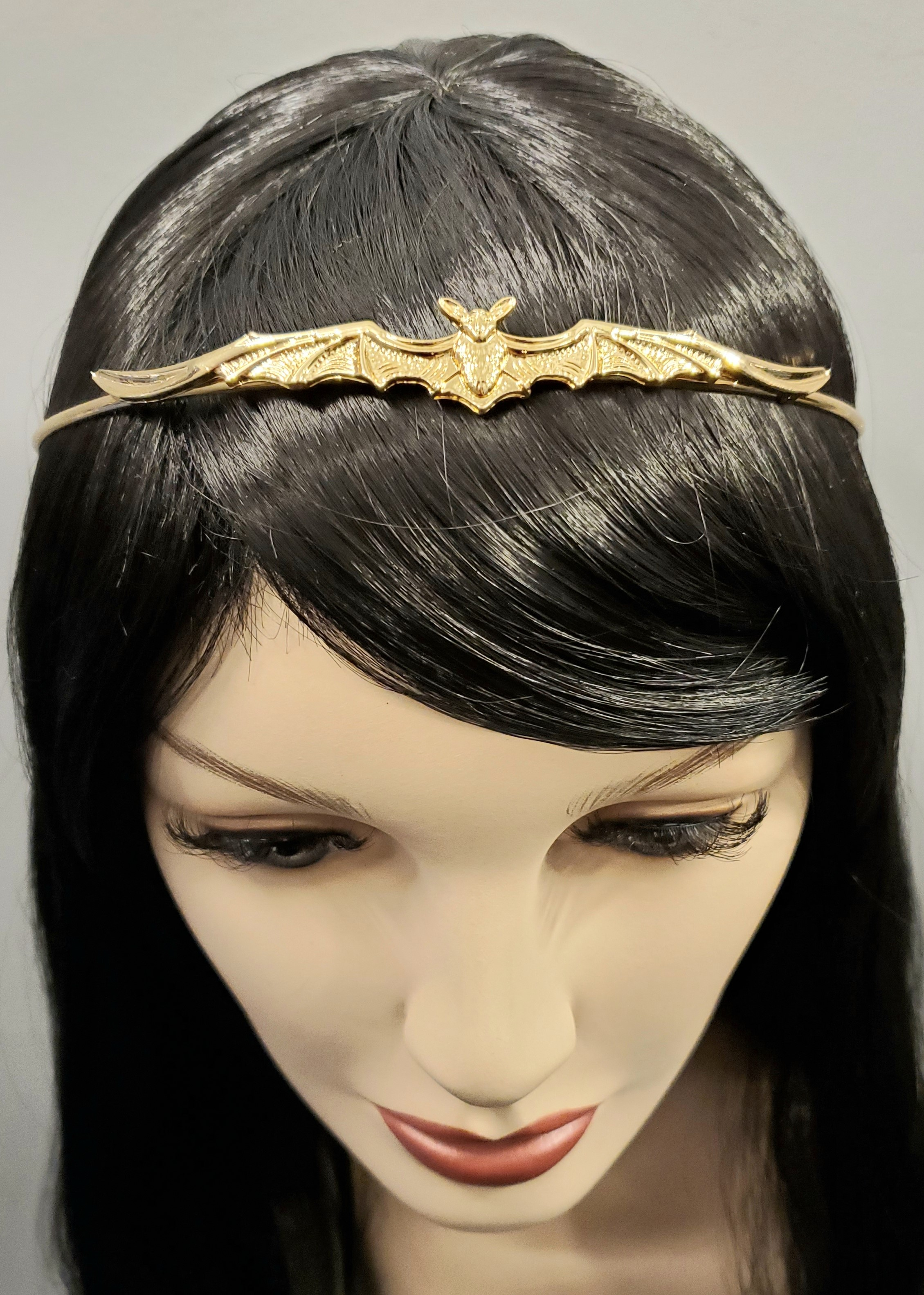 Delicately spooky bat tiara gold 6702 Edmonton
