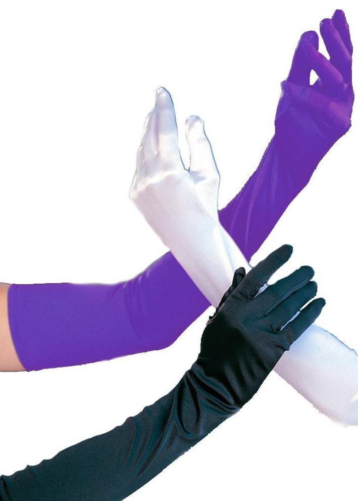Purple Satin Opera Length Gloves 0216 Edmonton