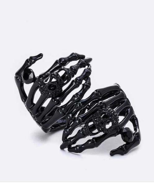 black skeleton hand rhinestone bracelet 171822 Edmonton