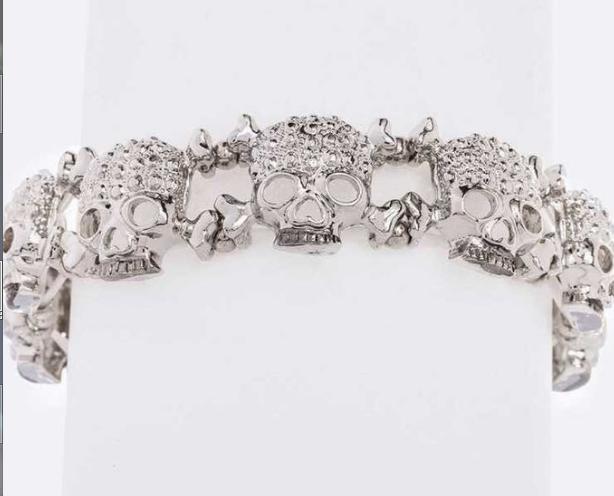 Rhinestone skull bracelet 6910 Edmonton