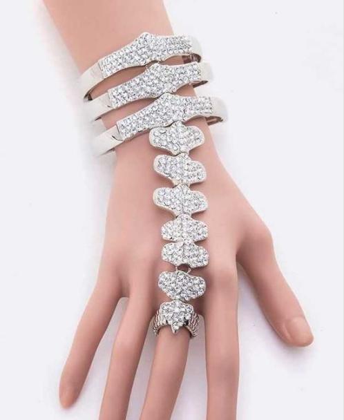 Unique rhinestone spinal bracelet 7603 Edmonton