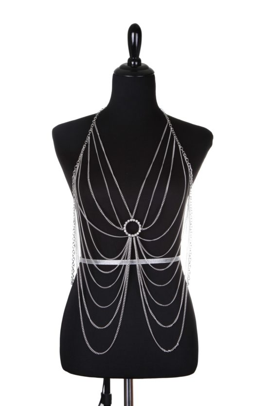 Sexy draped body chain silver 7729 Edmonton