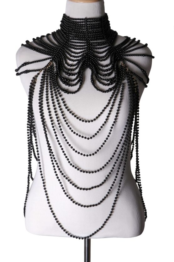 Victorian inspired draped beaded necklace 6036 Edmonton