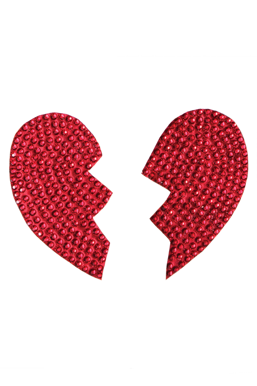Broken heart rhinestone pasties 7253 Edonton