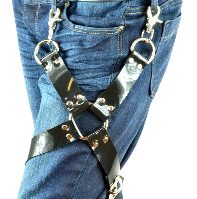 Single Ring Black Vinyl Leg Harness 1102v Edmonton