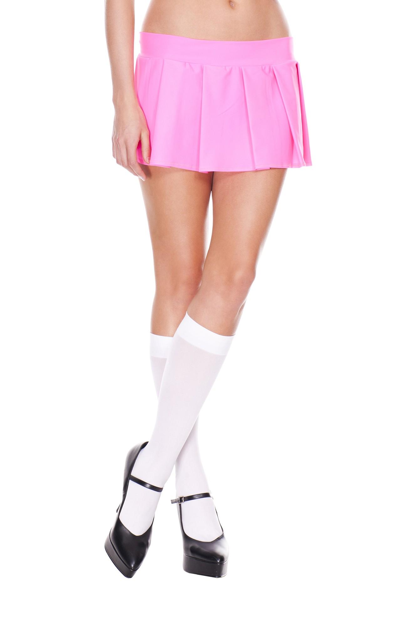 Pleated spandex mini skirt hot pink 25075 Edmonton