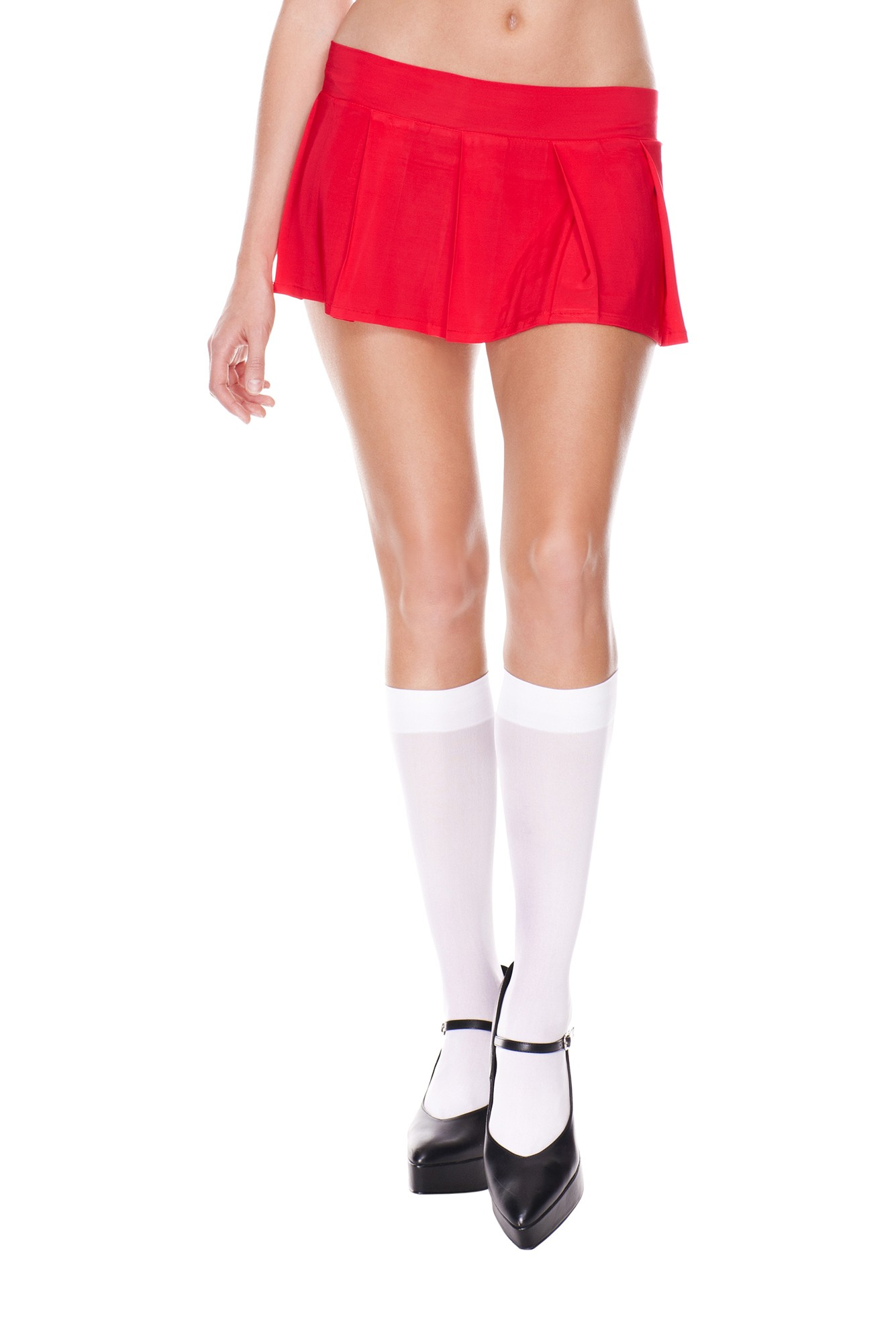 Pleated spandex mini skirt red 25075 Edmonton
