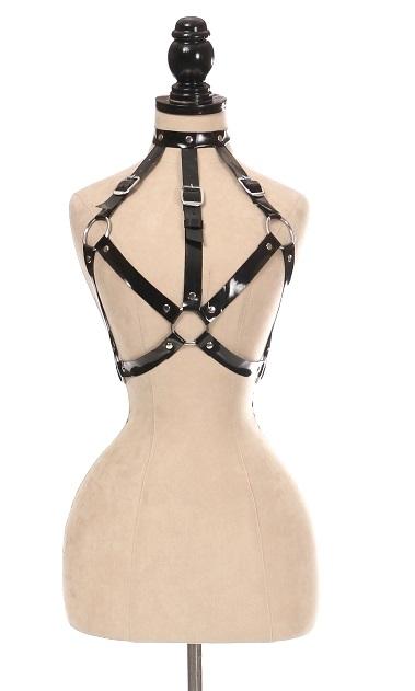 Black Patent Harness Adjustable Straps 11107bp Edmonton