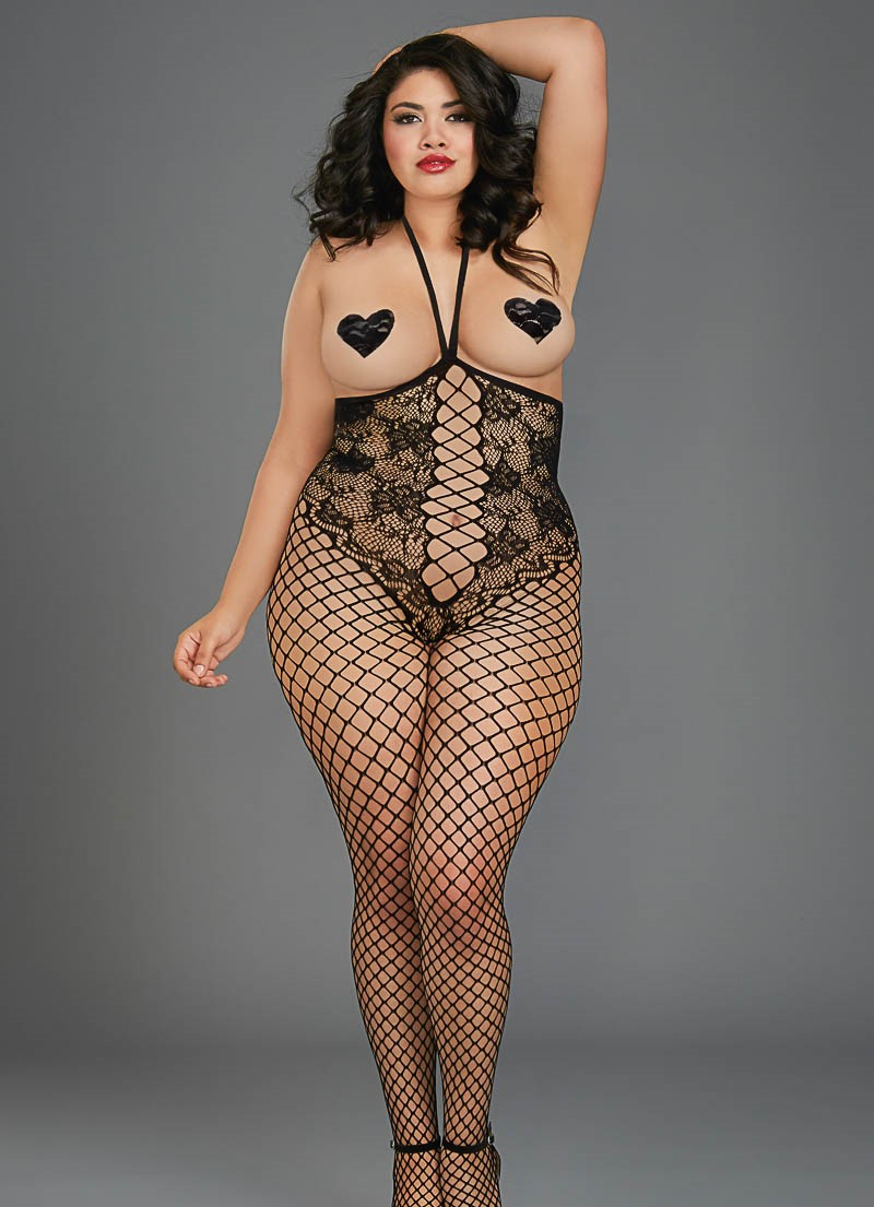 Open cup bodystocking lace teddy design open crotch 0268 Edmonton