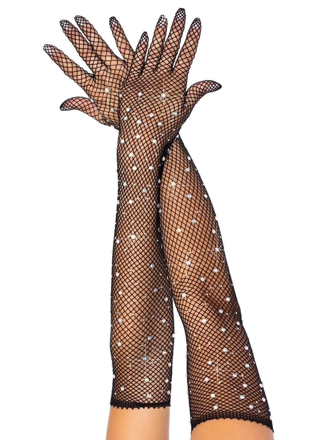 Rhinestone Fishnet Gloves Edmonton