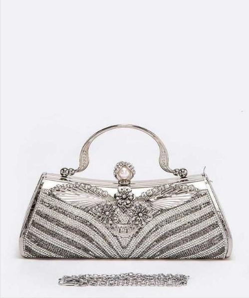 Silver Elegant Crystal Clutch 118628 Edmonton