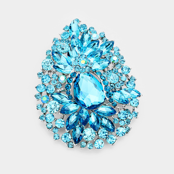 Sparkling rhinestone brooch 376438 Edmonton