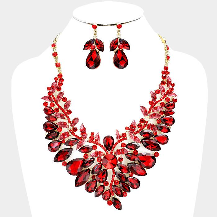 Sparkling rhinestone necklace matching earrings 380656 Edmonton