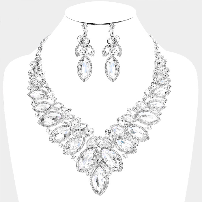 Sparkling rhinestone necklace matching earrings 380626 Edmonton