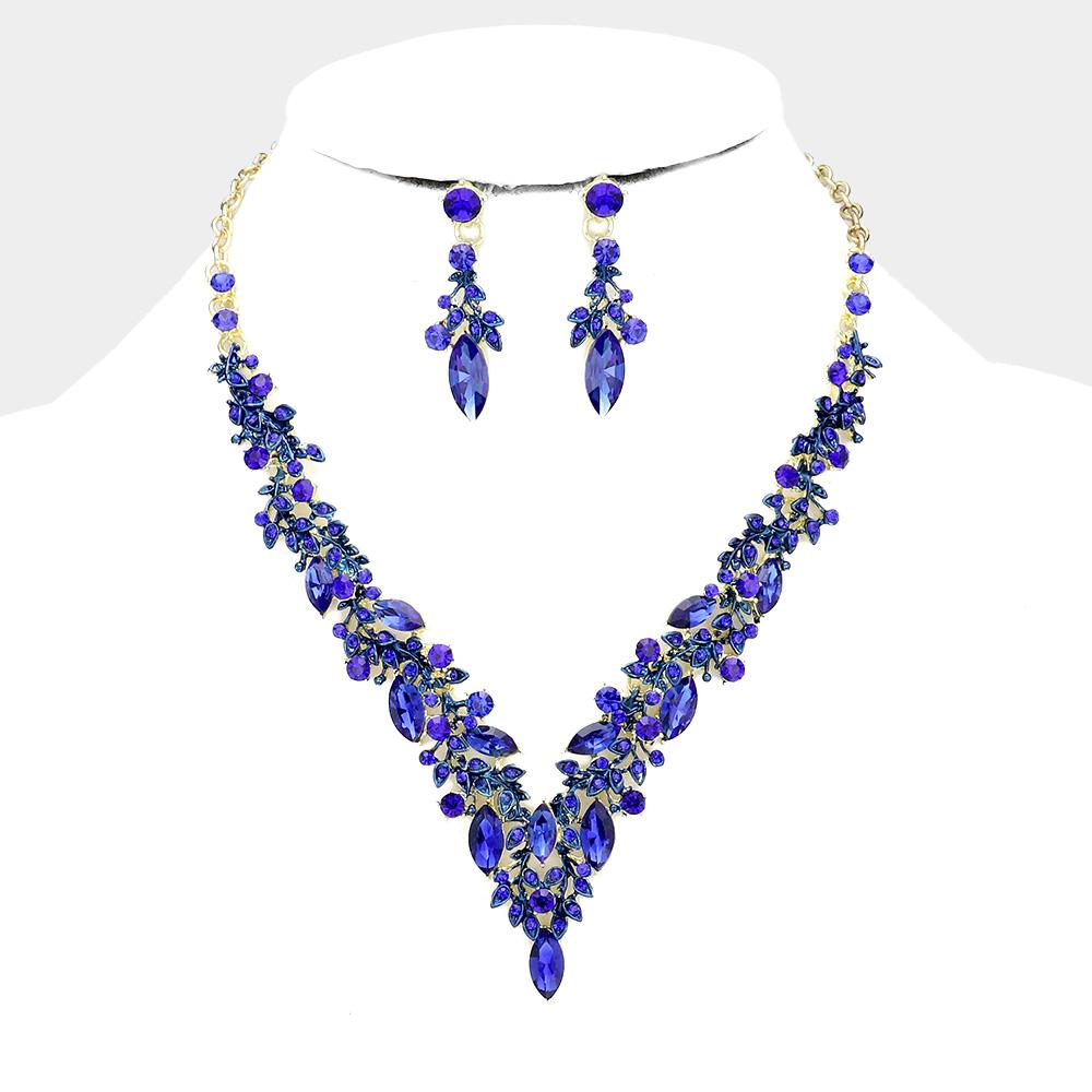 Sparkling rhinestone necklace matching earrings 464672 Edmonton