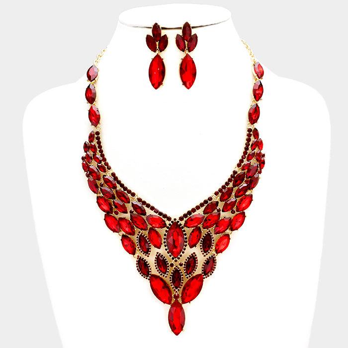 Sparkling rhinestone necklace matching earrings 318087 Edmonton