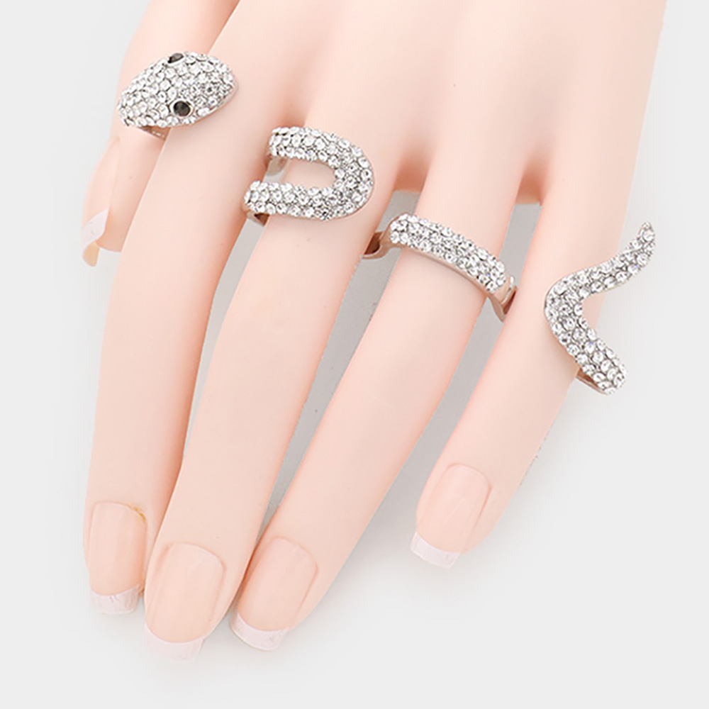 Sparkling rhinestone snake ring 464209 Edmonton