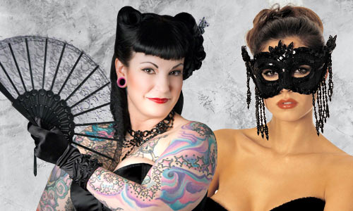 Dress up accessories for burlesque, drag, steampunk and more