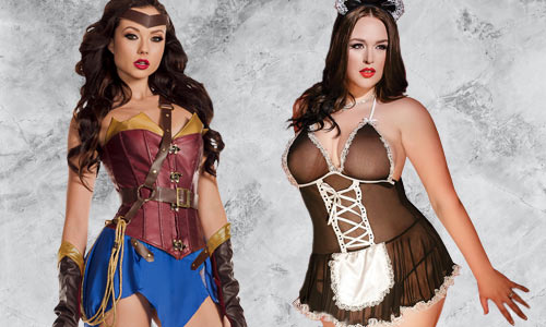 Sexy super hero, harley quinn, mermaid, fairy and more costumes
