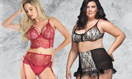 Essential sexy lingerie in standard and plus sizes