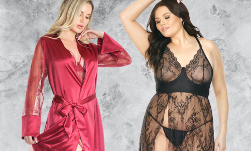 Sexy lingerie sleepwear and robes