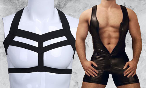 Men's gothic swimsuits, halloween costumes, body cages and more