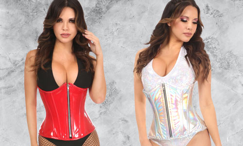 Modern, fashionable corsets for fetish, rave, and more