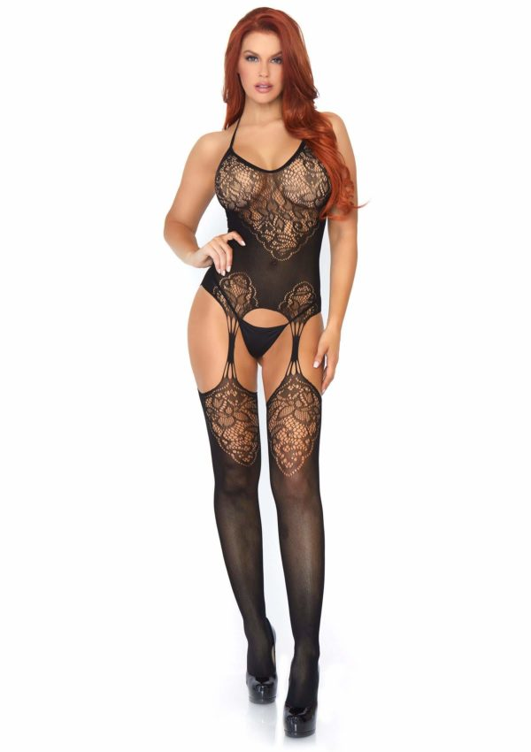 Attached Garter Plus Size Body Stocking Edmonton