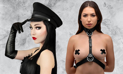 Fetishwear accessories, bondage cuffs and collars, harnesses, and more