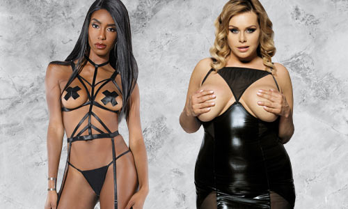 Fetish lingerie and sets for rave, club, goth, and roleplay