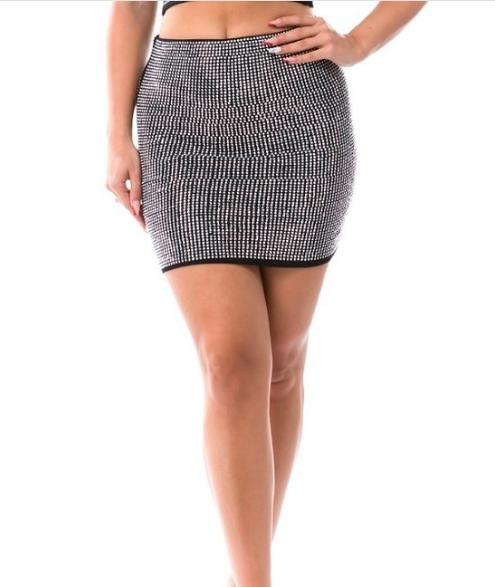Rhinestone Mini Skirt Edmonton