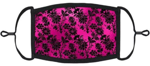 Hot Pink Floral Mask Edmonton