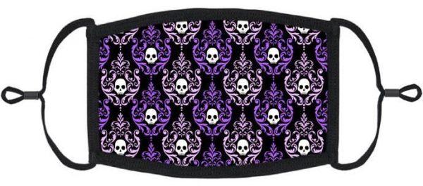 Victorian Purple Skull Mask Edmonton