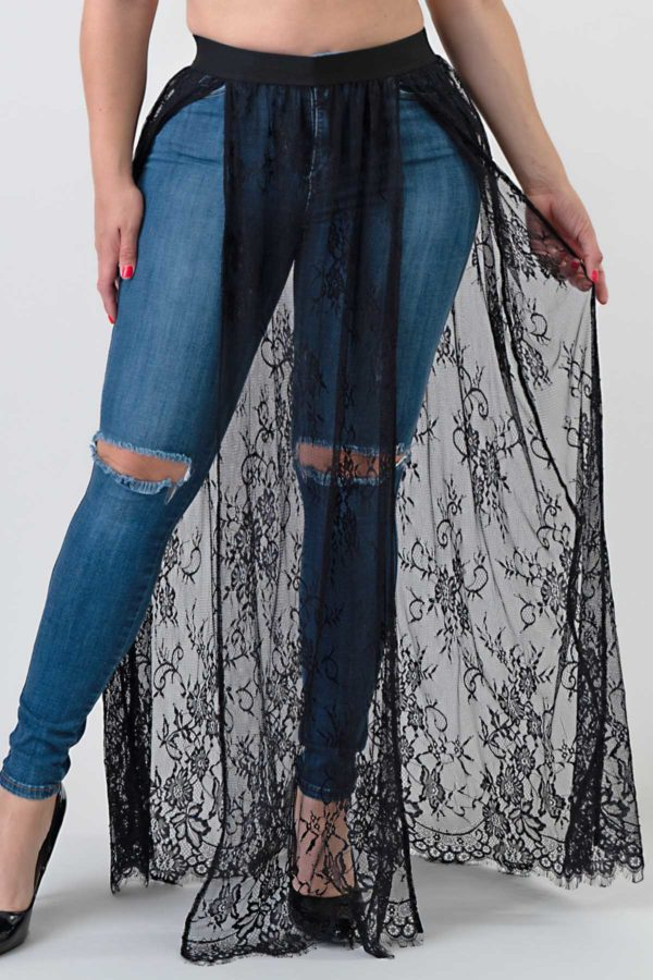 Sheer Lace Maxi Skirt Edmonton