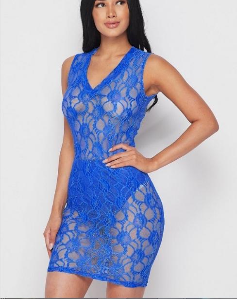 Blue Lace Dress Edmonton