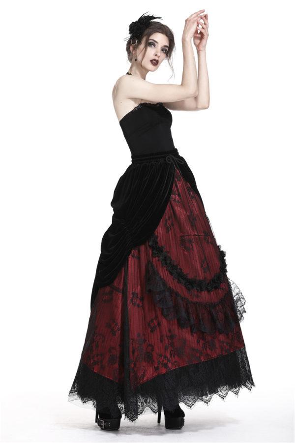 Victorian Velvet and Lace Skirt Edmonton
