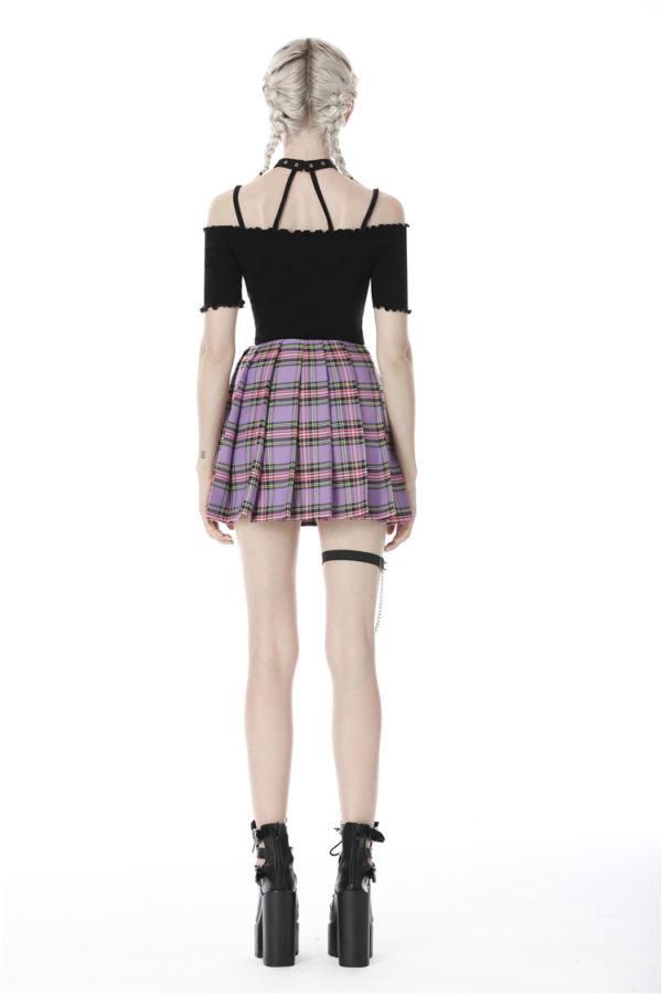 Pink Tartan Schoolgirl Skirt Edmonton