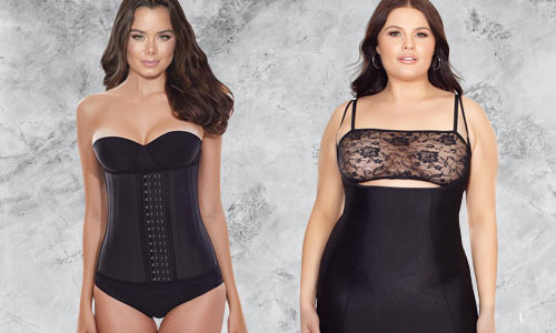 Smoothing and slimming shapewear for under clothing