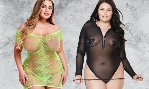Plus size holographic and see through clothing for raves, festivals, and dance